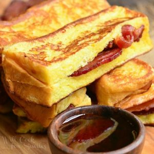 Bacon Stuffed Brioche French Toast Sticks - Will Cook For Smiles