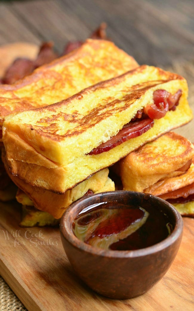 Bacon Stuffed Brioche French Toast