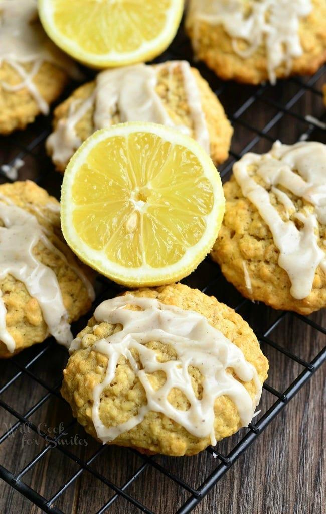 Fashioned Lemon Cookie Recipe: Soft Oatmeal Cookies With Lemon Vanilla Glaze