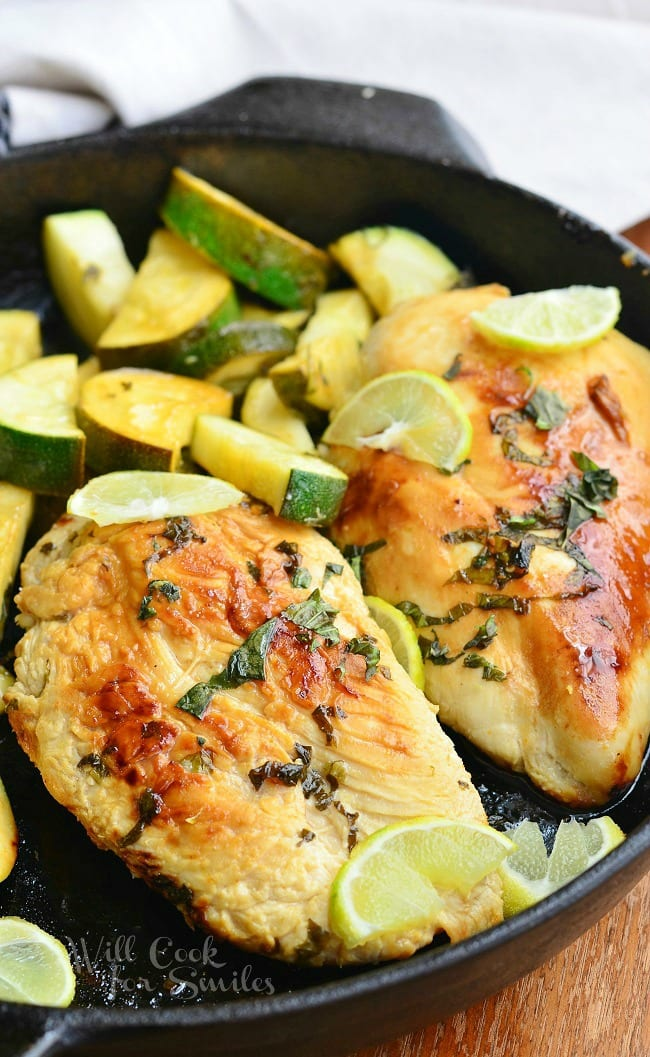 Honey Key Lime Chicken from willcookforsmiles.com