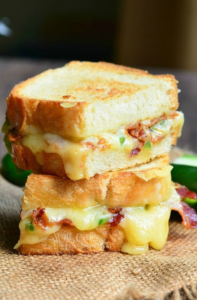 Jalapeno Popper Grilled Cheese 3 from willcookforsmiles.com