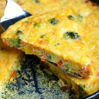 Vegetable and Cheese Overload Breakfast Bake