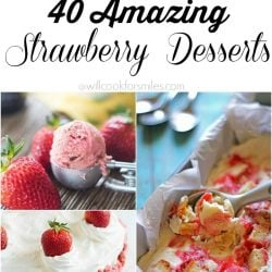 8 picture collage of amazing strawberry desserts
