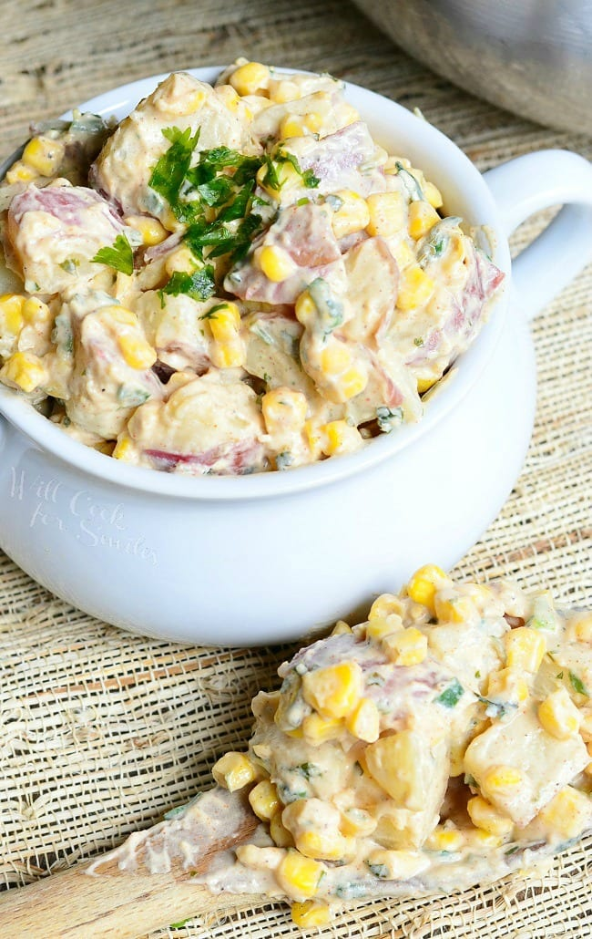 Chipotle Ranch Potato Salad from willcookforsmiles.com