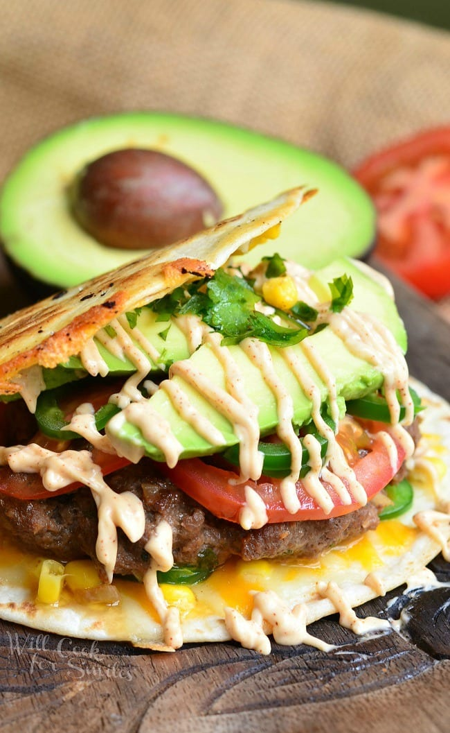 Quesadilla Burger from willcookforsmiles.com