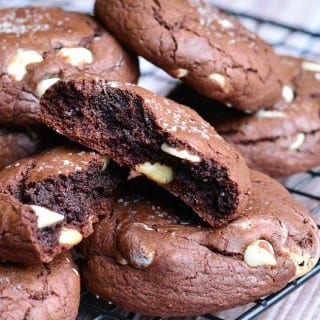 Salted Chocolate White Chocolate Chip Brown Butter Cookies