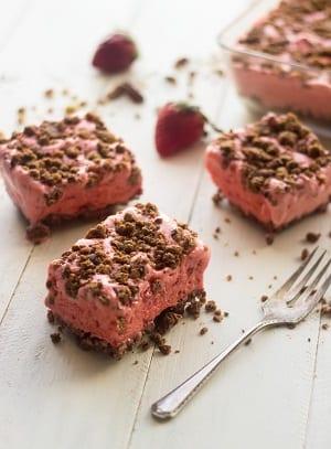 strawberry ice cream bars