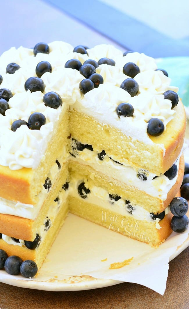 Blueberries and Cream Cake 4 from willcookforsmiles.com