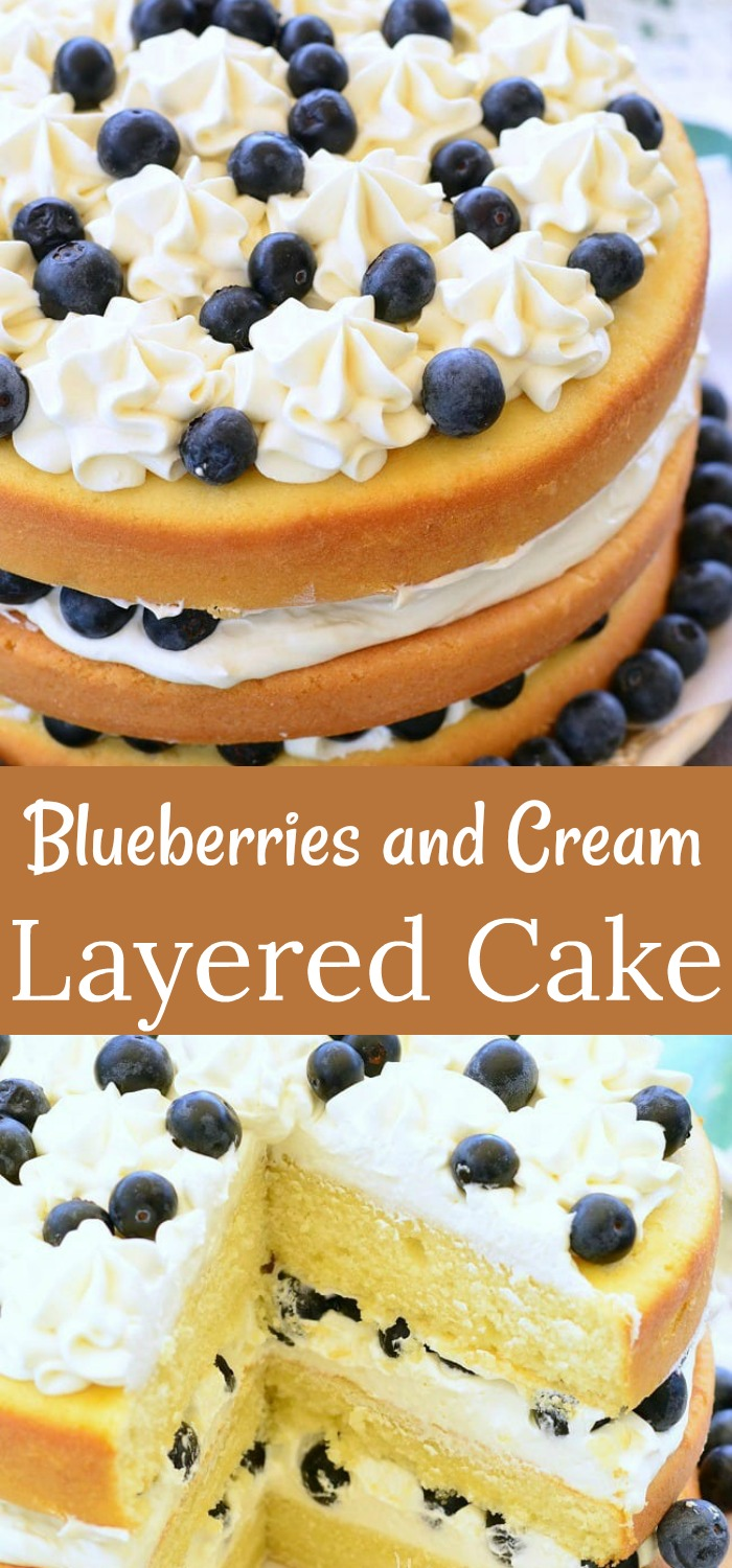 Blueberry Layered Cake