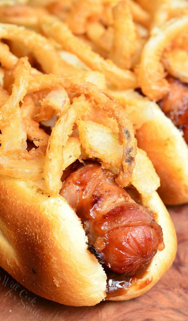How To Make Crispy Onions For Hot Dogs