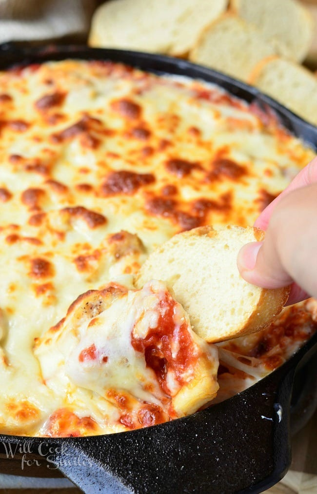 Chicken Parmesan Dip 4 from willcookforsmiles.com