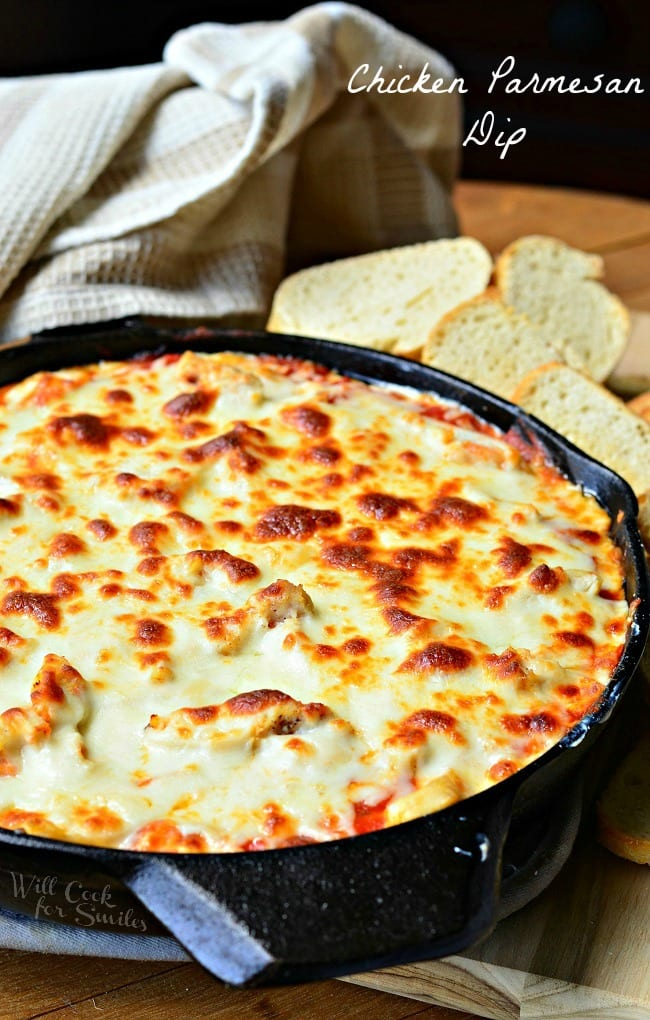 Chicken Parmesan Dip from willcookforsmiles.com