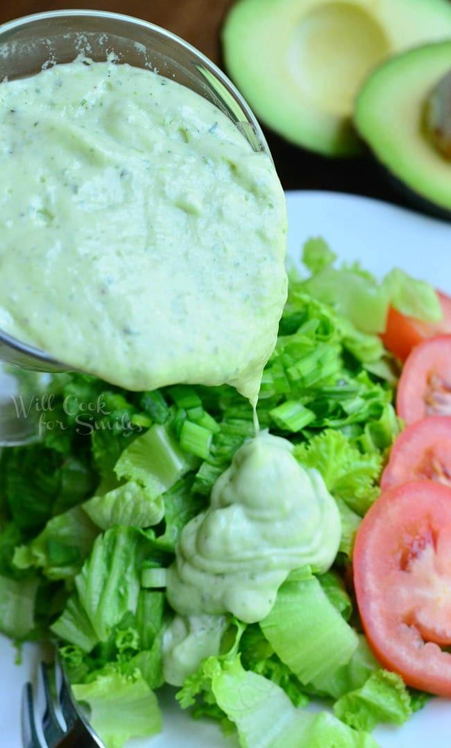 Creamy Avocado Dressing 4 from willcookforsmiles.com