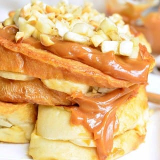 Peanut Butter Banana Stuffed French Toast