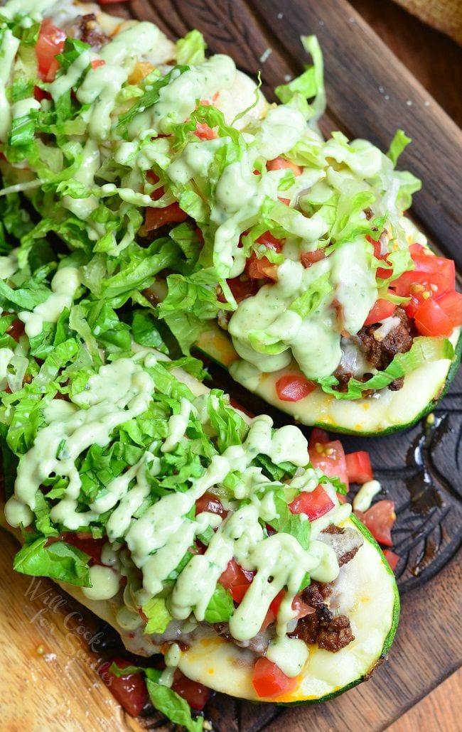 Taco Stuffed Zucchini Boats 1