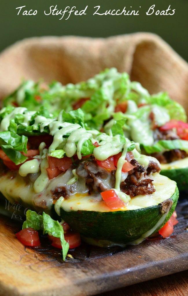 Taco Stuffed Zucchini Boats 3