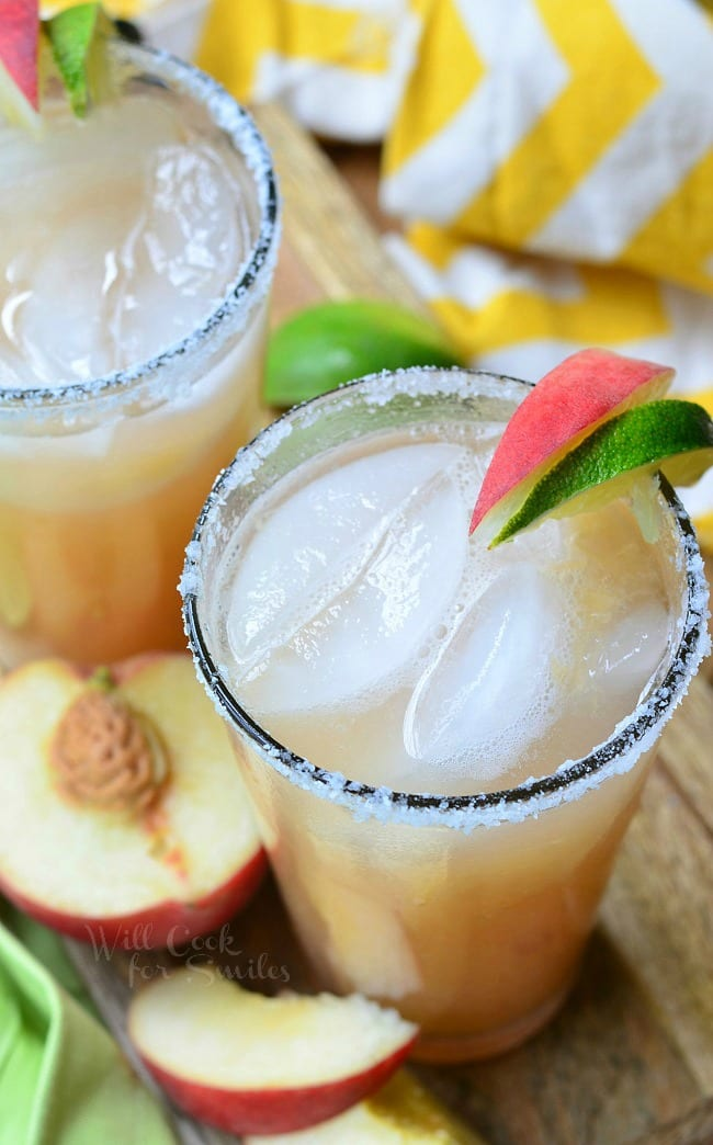 White Peach Margarita 2 from willcookforsmiles.com