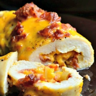 Apple Bacon Cheddar Stuffed Chicken Pockets