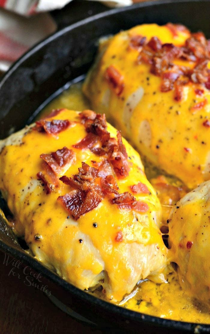 Apple Bacon Cheddar Stuffed Chicken Pockets - Will Cook For Smiles-1607