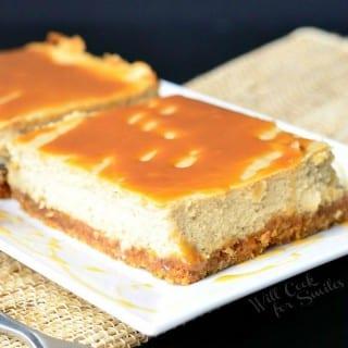 Caramel Macchiato Cheesecake Bars