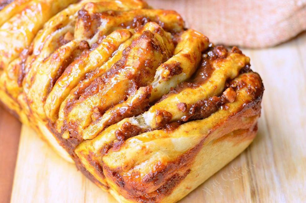 ... Pull Apart Bread 4 willcookforsmiles.com #bread #pullapart #pumpkin