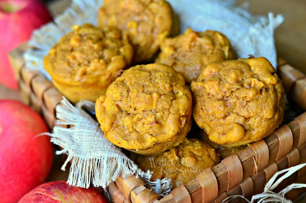 Pumpkin Apple Muffins #muffins