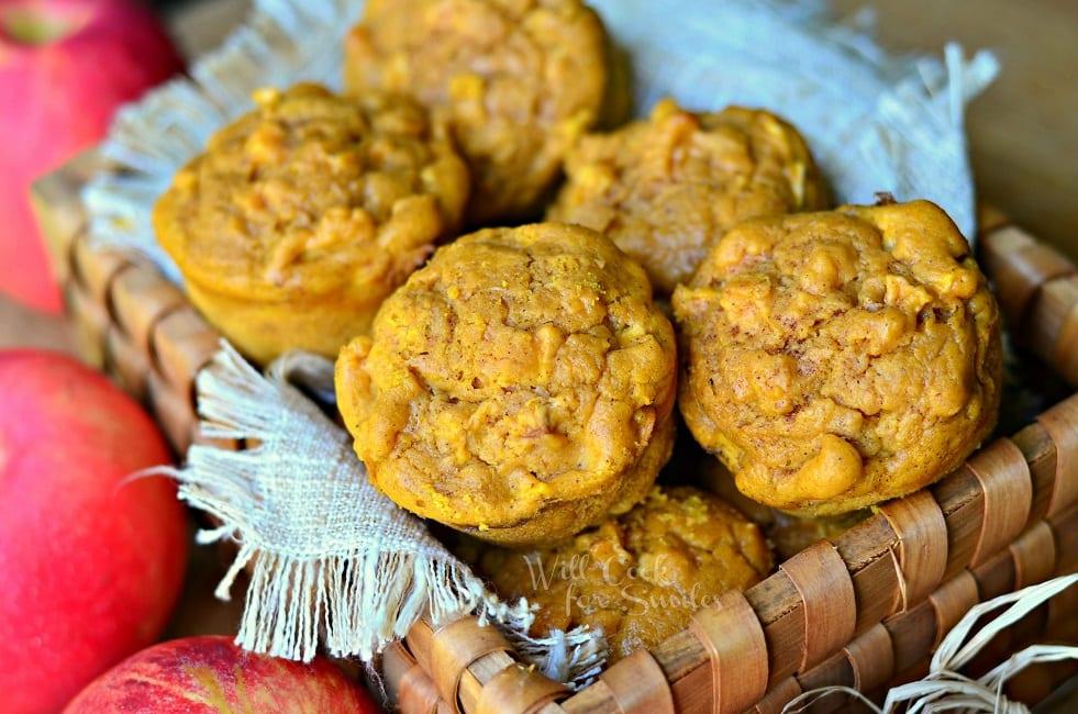 Pumpkin Apple Muffins #muffins