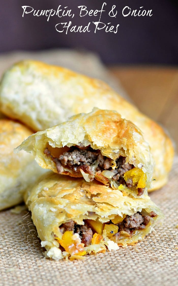 Pumpkin, Beef & Onion Hand Pies #snack