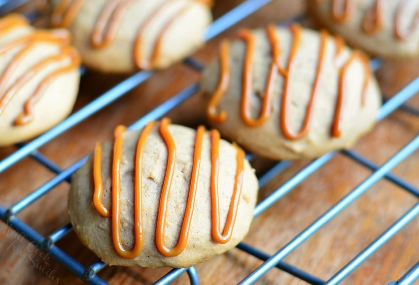 Pumpkin Dulce de Leche Nutella Cookies #pumpkin #cookie