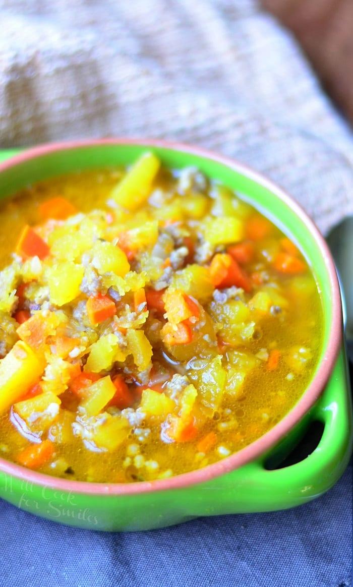 Pumpkin Sausage Soup #comfortfood