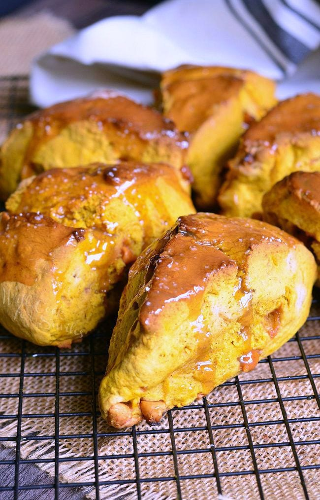 Salted Caramel Butterscotch Pumpkin Scones 3 willcookforsmiles.com
