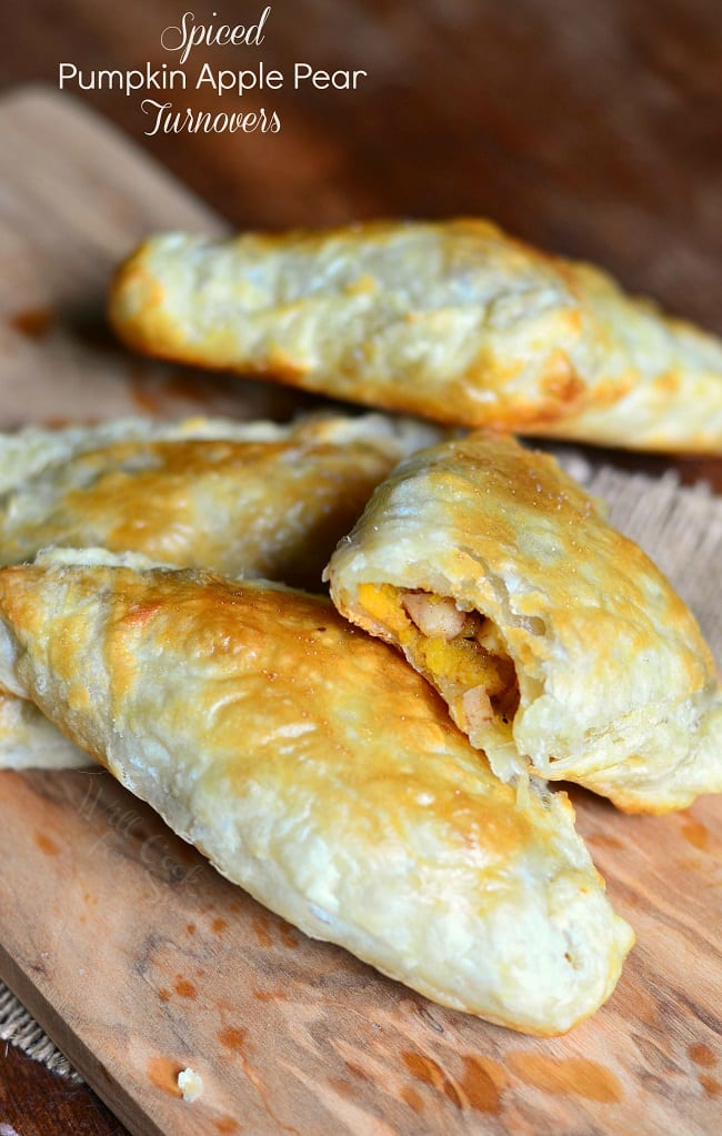 Spiced Pumpkin Apple Pear Turnovers