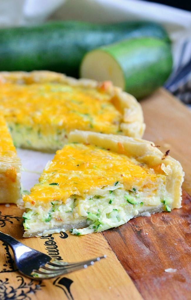 Sriracha Zucchini and Cheese Quiche 1 from willcookforsmiles.com