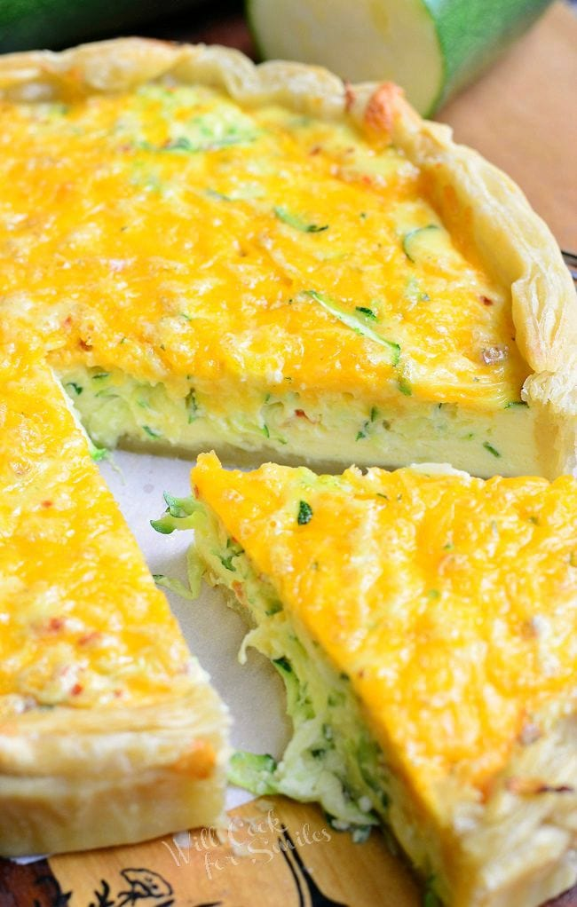 Sriracha Zucchini and Cheese Quiche 4 from willcookforsmiles.com