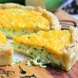Sriracha Zucchini and Cheese Quiche
