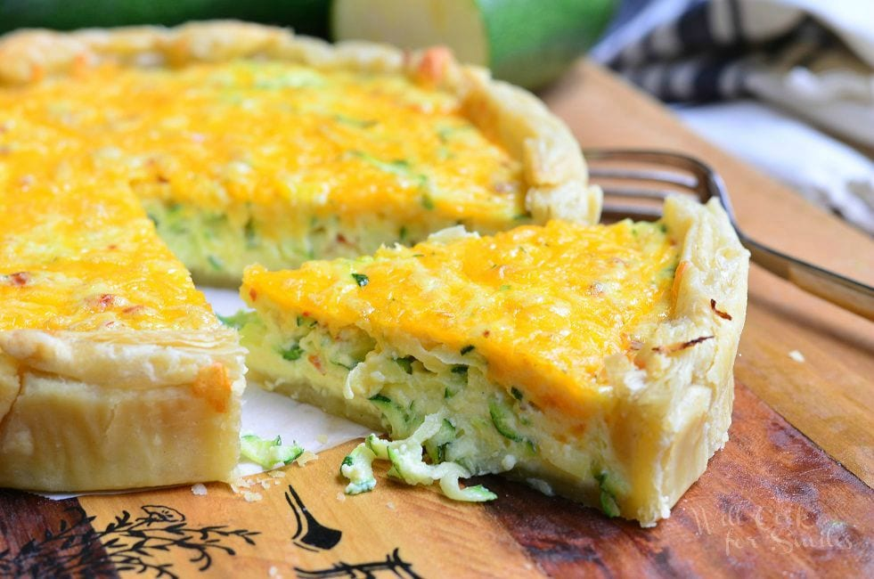 Sriracha Zucchini and Cheese Quiche 5 from willcookforsmiles.com