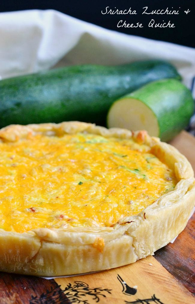 Sriracha Zucchini and Cheese Quiche from willcookforsmiles.com