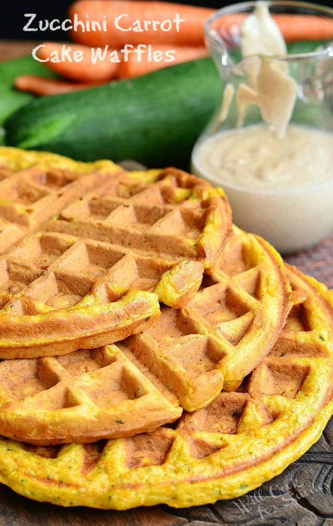 Zucchini Carrot Cake Waffles | from willcookforsmiles.com