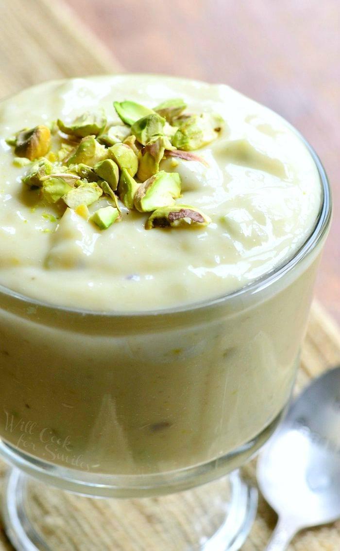 Homemade Pistachio Pudding | from willcookforsmiles.com