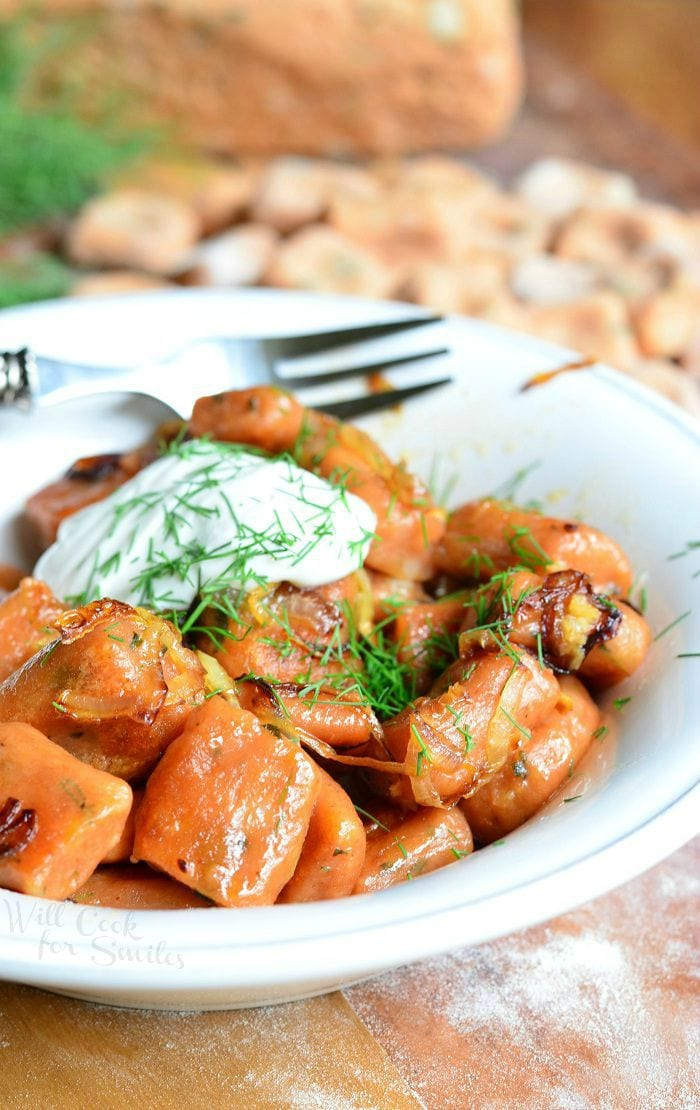 Homemade Tomato Herb Gnocchi | from willcookforsmiles.com