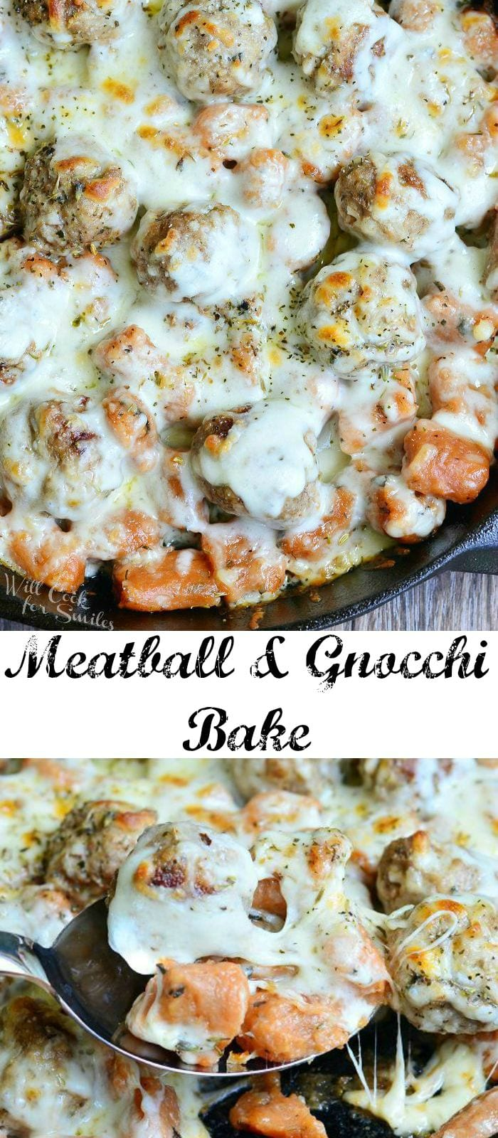 Meatball and Gnocchi Bake from willcookforsmiles.com