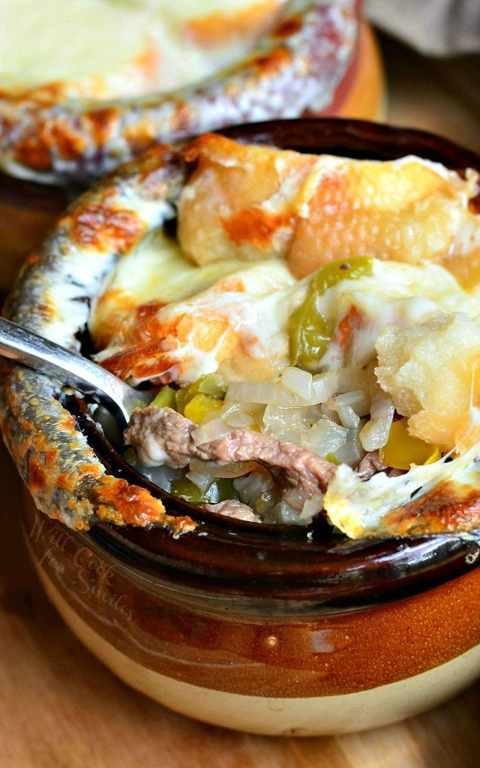 Philly Cheese Steak Soup 2 from willcookforsmiles.com #steak #soup