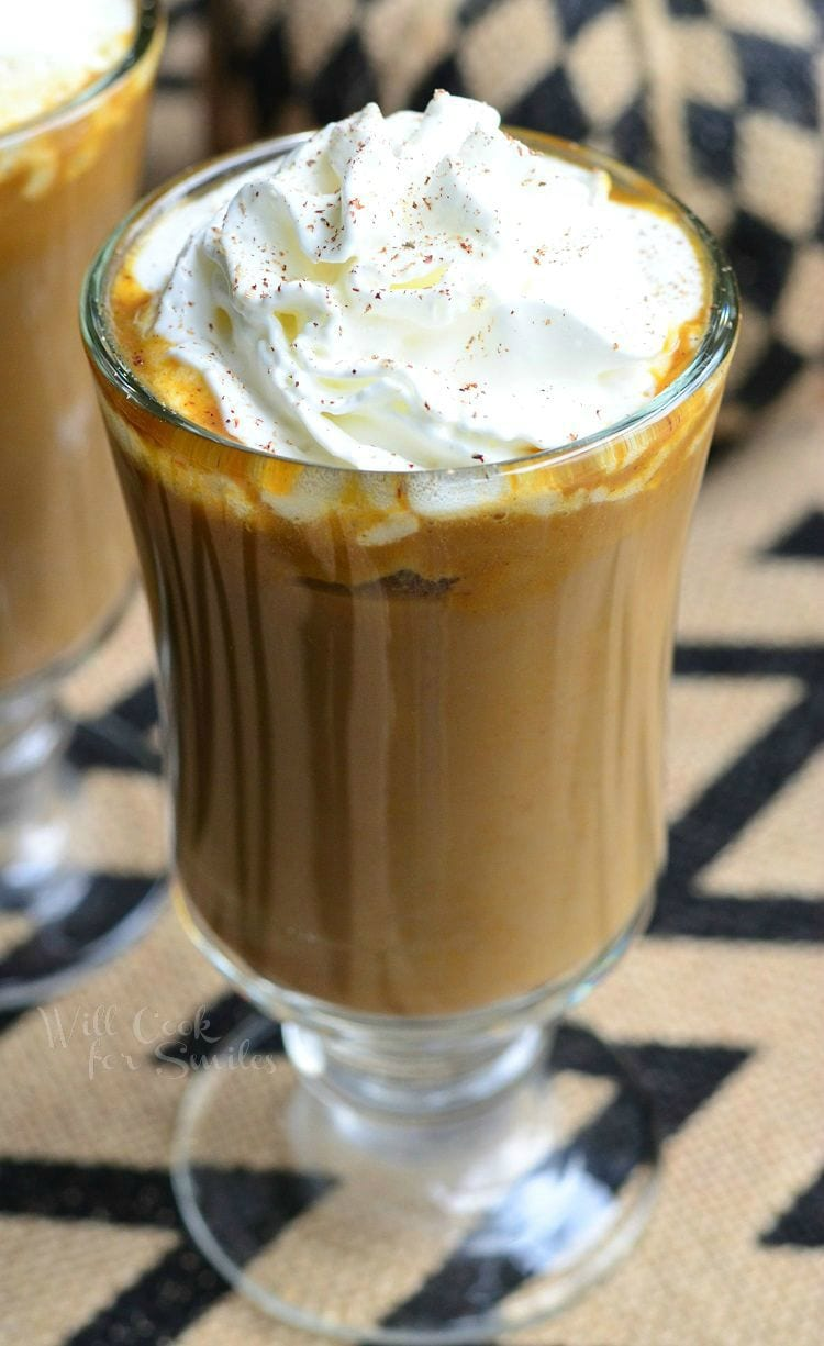 Pumpkin White Chocolate Mocha Latte 1 from willcookforsmiles.com #drink #coffee