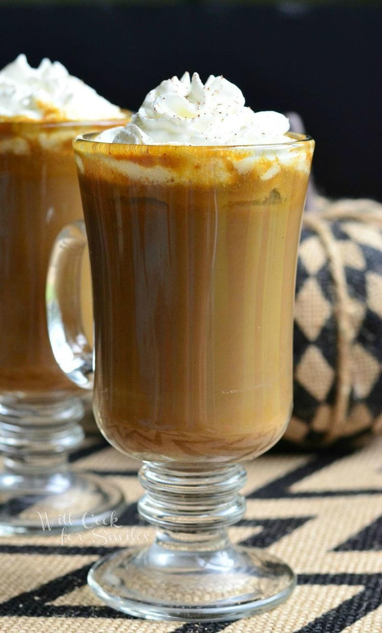 Pumpkin White Chocolate Mocha Latte | from willcookforsmiles.com #drink #coffee