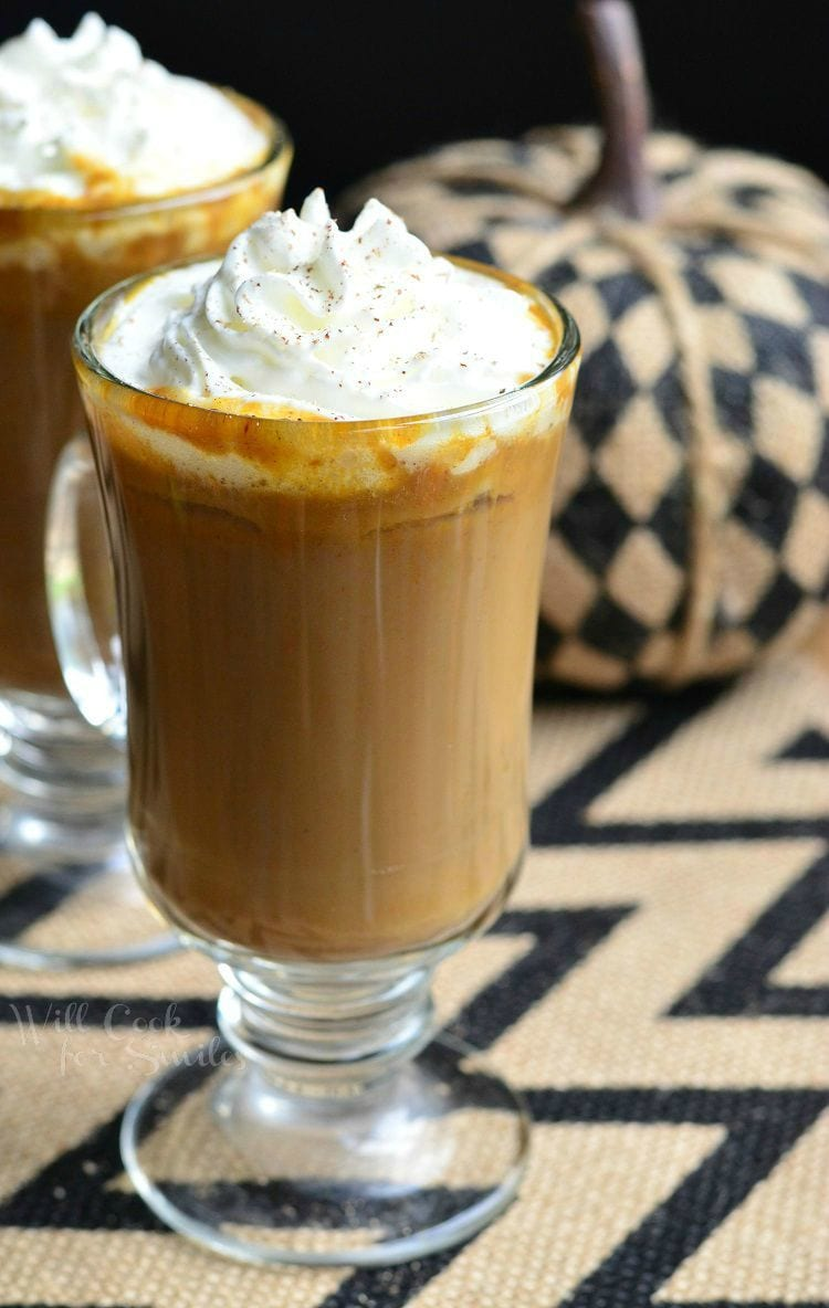 Pumpkin White Chocolate Mocha Latte 4 from willcookforsmiles.com #coffee