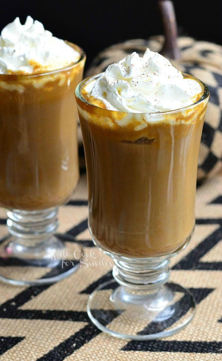 Pumpkin White Chocolate Mocha Latte from willcookforsmiles.com #coffee #drink