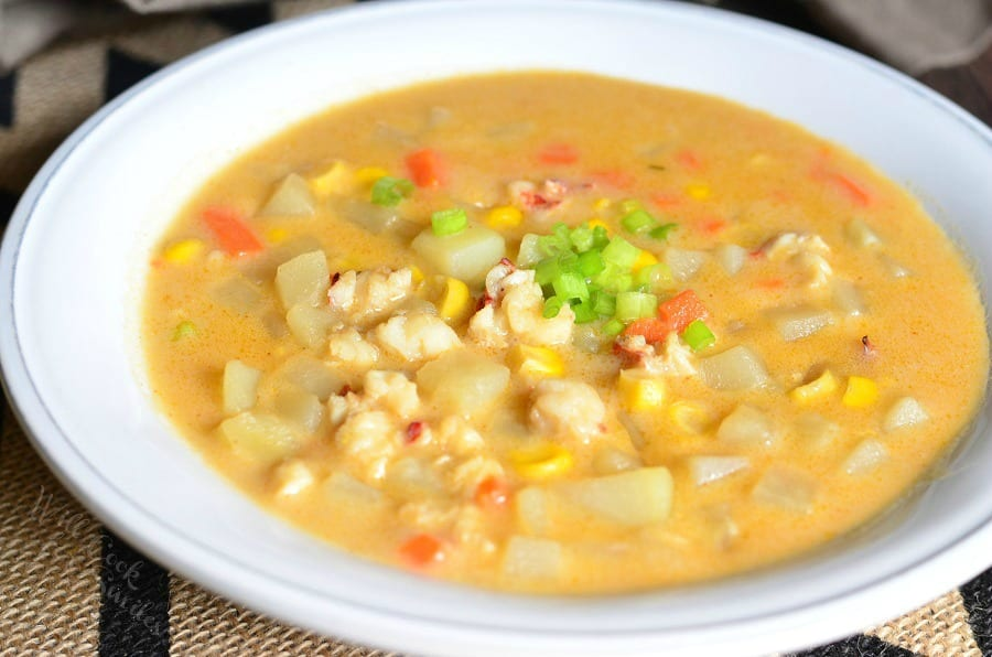 Lobster Potato and Corn Chowder - Will Cook For Smiles