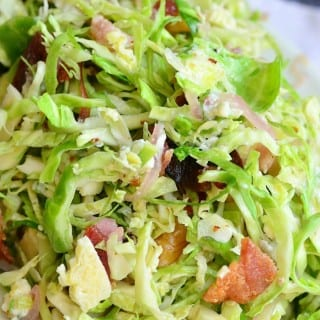 Bacon and Blue Brussels Sprouts Salad