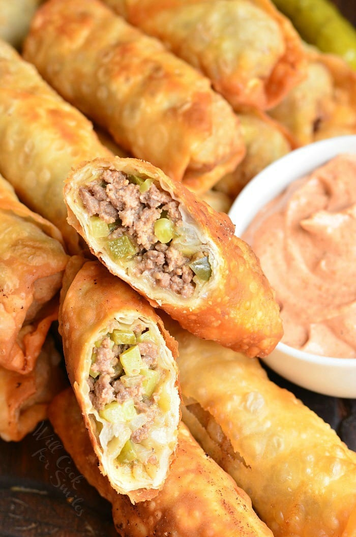 Cheeseburger Eggrolls | from willcookforsmiles.com