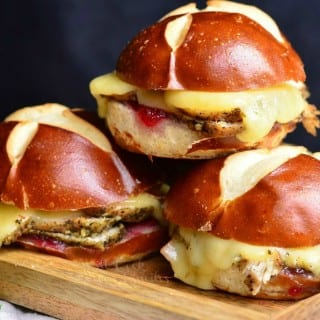 Cranberry Asiago Turkey Sliders
